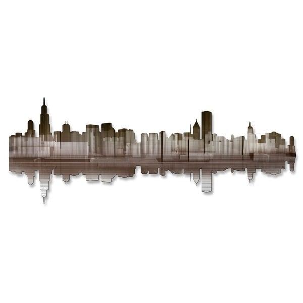 Shop \'Chicago Reflection IV\' Ash Carl Metal Wall Art - On Sale ...