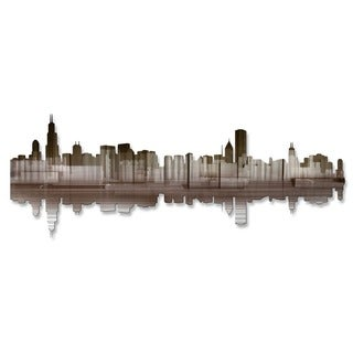 'Chicago Reflection IV' Ash Carl Metal Wall Art
