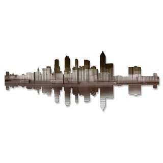 'Atlanta Reflection II' Ash Carl Metal Wall Art
