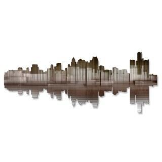 'Detroit Reflection II' Ash Carl Metal Wall Art