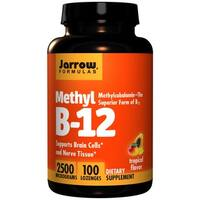 Jarrow Formulas Methyl B12 Tropical Flavor 2500 Micrograms (100 Lozenges)