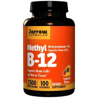 Jarrow Formulas Methyl B12 Tropical Flavor 2500 Micrograms (100 Lozenges)