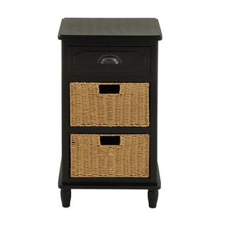 Ariana Wood Basket Chest Nightstand