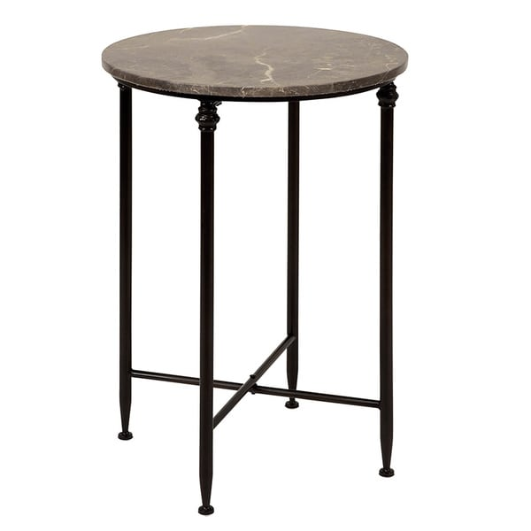 Marble Top Coffee And Side Tables: Shop Marble Top Round Accent Table
