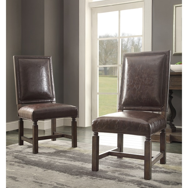 Leather Dining Set: Shop Savoy Bonded Leather Dining Chair (Set Of 2)