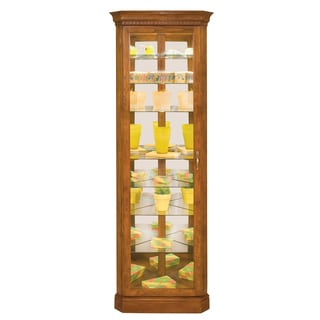 Philip Reinisch Co. Lighthouse Octave Eight-Shelf Corner Curio Cabinet