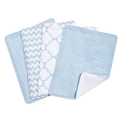 Trend Lab Blue Sky 4 Pack Burp Cloth Set