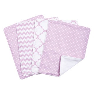 Trend Lab Orchid Bloom 4 Pack Burp Cloth Set
