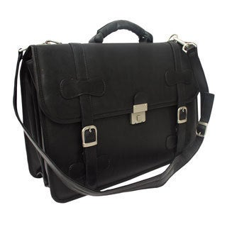 Piel Leather XXL Flap-over Portfolio Briefcase
