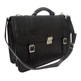 Piel Leather XXL Flap-over Portfolio Briefcase (3 options available)