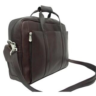 Piel Leather Chocolate Laptop Computer Briefcase
