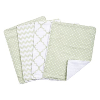 Sea Foam 4 Pack Burp Cloth Set