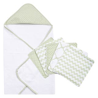 Trend Lab Sea Foam 6-piece Dot Hooded Towel and Wash Cloth Set|https://ak1.ostkcdn.com/images/products/10909692/P17941471.jpg?impolicy=medium