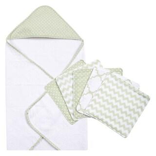Trend Lab Sea Foam 6-piece Dot Hooded Towel and Wash Cloth Set
