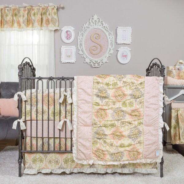 Shop Waverly Rosewater Glam 3 Piece Crib Bedding Set