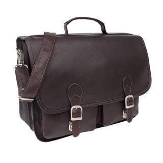 Piel Leather Executive Two Pocket Portfolio Briefcase