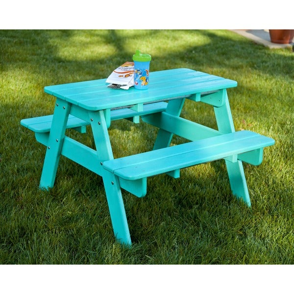 Shop Polywood Kids Outdoor Picnic Table Free Shipping Today