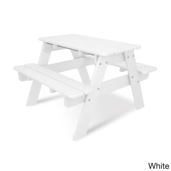 Shop Polywood Kids Outdoor Picnic Table Free Shipping