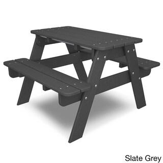 Polywood Kids Picnic Table (Option: Slate Grey)