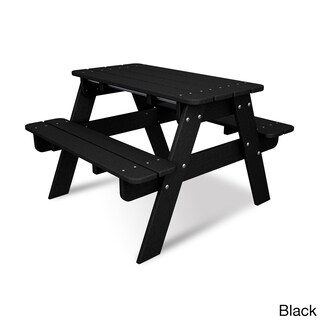 Polywood Kids Picnic Table (Option: Black)
