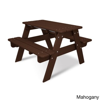 Polywood Kids Picnic Table (Option: Mahogany)