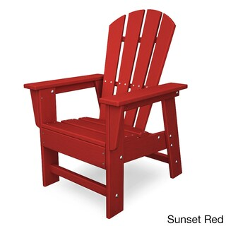Polywood Kids Casual Chair (Option: Sunset Red)