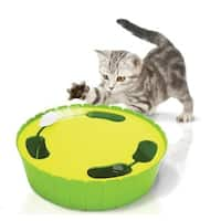 Penn Plax Hide and Seek Green Plastic Battery-powered Electronic Mouse Hunt