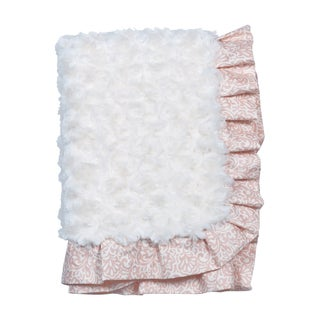 Trend Lab Waverly Rosewater Glam Ruffled Rosette Baby Blanket