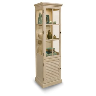 Philip Reinisch Co. Color Time Hampton Display Cabinet, Sandshell White