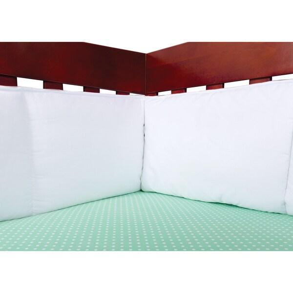 Trend Lab White Crib Bumpers