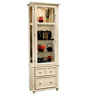 Philip Reinisch Co. Color Time Vista Display Cabinet, Sandshell White