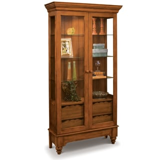 Philip Reinisch Co. Color Time Chestnut Summerville Display Cabinet
