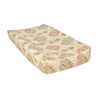 Trend Lab Waverly Rosewater Glam Damask Changing Pad Cover