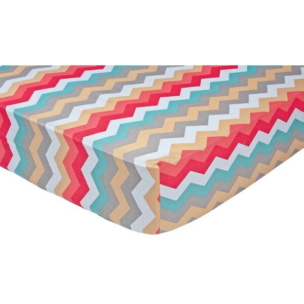 Trend Lab Waverly Pom Pom Play Chevron Crib Sheet Free