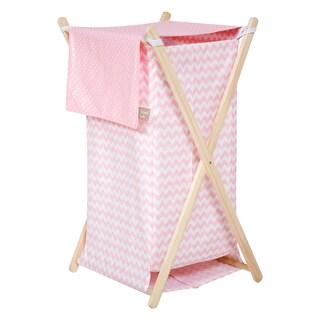 Trend Lab Pink Sky Hamper Set