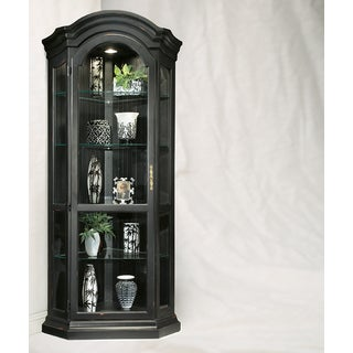 Philip Reinisch Co. Color Time Pirate Black Panorama Corner Display Cabinet