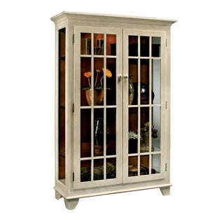 Philip Reinisch Co. Color Time Monterey Two-Door Display Sandshell White Cabinet