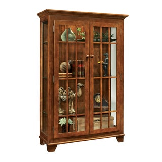 Philip Reinisch Co. Color Time Chestnut Monterey Two-door Display Cabinet