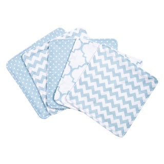 Trend Lab Blue Sky 5 Pack Wash Cloth Set
