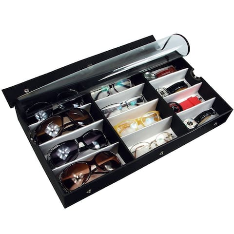 Ikee Design Large Sun/ Eyeglasses 12-Pair Eyewear Case