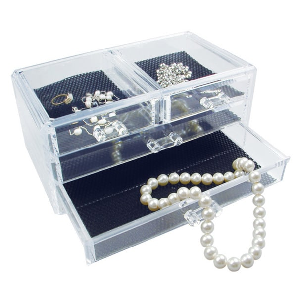 Acrylic Jewelry and Cosmetic Storage Display Box. Opens flyout.