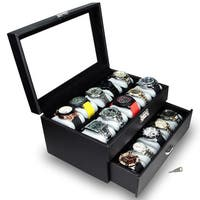 Ikee Design Watch Display Case with Silver Key Lock - N/A