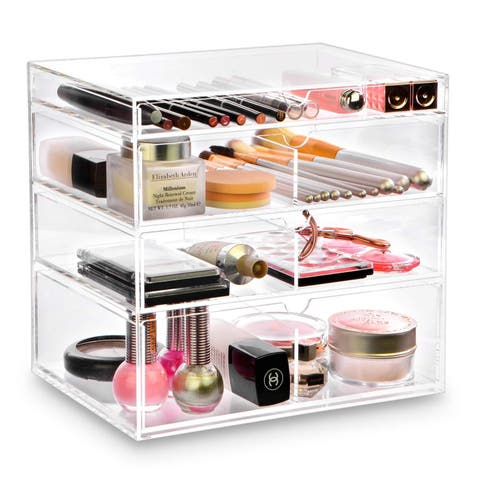 Ikee Design Acrylic 4-Drawer Cosmetic Organizer