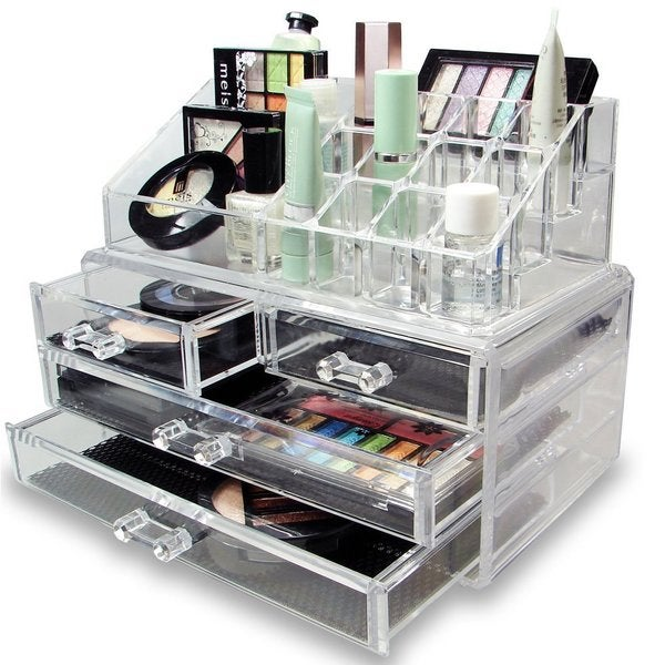 ... Design Large Clear Acrylic Jewelry and Cosmetic Storage Display Boxes