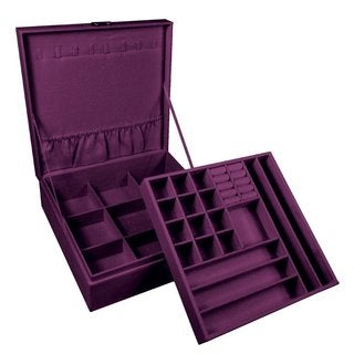 Ikee Design Two Level Jewelry Traveling Case