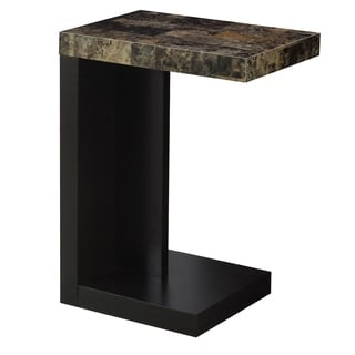 Accent Table Cappuccino Marble-Look Top