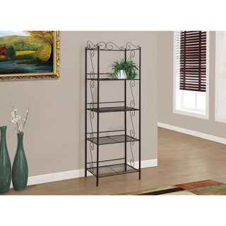71 inch Bookcase Copper Metal Etagere