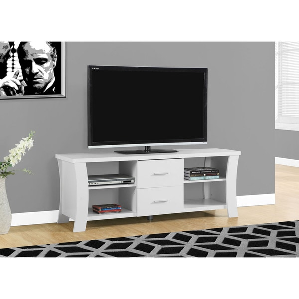 Shop Copper Grove Hecla 60 Inch White Tv Stand Free Shipping Today