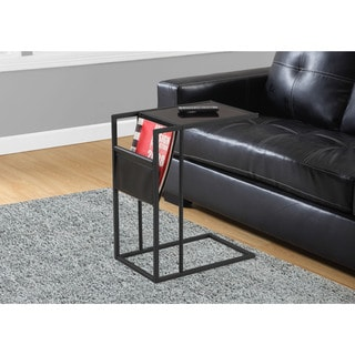 Accent Table-Black Metal With A Magazine Rack