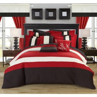 Gracewood Hollow Rice Red 24-piece Bed in a Bag with Sheet Set